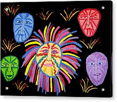 Faces Out Of The Dark  Acrylic Print by Betty  Roberts