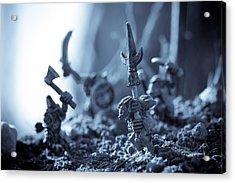Facing The Enemy Acrylic Print by Marc Garrido