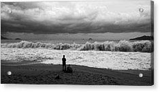Facing The Storm Acrylic Print by Kim Lagerhem