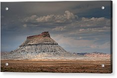 Acrylic Print featuring the photograph Factory Butte by Dan Mihai