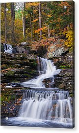Acrylic Print featuring the photograph Factory Falls 2 by Mark Papke