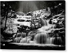 Factory Falls In Winter Acrylic Print