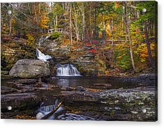 Acrylic Print featuring the photograph Factory Falls by Mark Papke