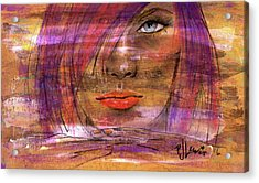 Acrylic Print featuring the painting Fadding Away by P J Lewis