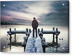 Fade Into Winter Acrylic Print