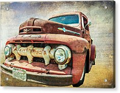 Faded Ford Acrylic Print by Tom Pickering of Photopicks Photography and Art