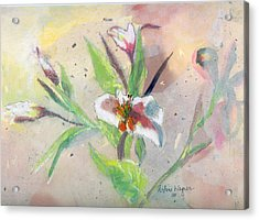 Faded Lilies Acrylic Print by Arline Wagner