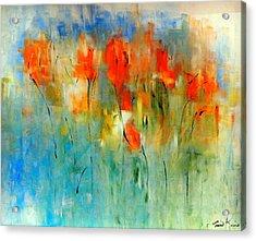 Faded Warm Autumn Wind Acrylic Print by Lisa Kaiser