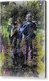 Fading Flower Children Acrylic Print by Kathleen Romana