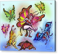 Acrylic Print featuring the painting Faeries by Kevin Middleton