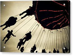 Fair Flying Acrylic Print by Kerry Langel