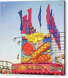 Acrylic Print featuring the photograph Fair Food by Cindy Garber Iverson