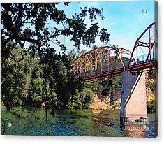 Fair Oaks Bridge Acrylic Print by Anthony Forster