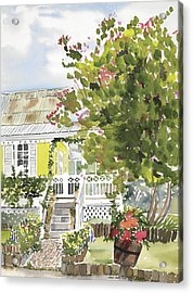 Fairfield Cottage Acrylic Print by Anji Worton