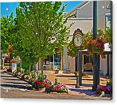 Fairhope Ave With Clock Looking North Up Section Street Acrylic Print