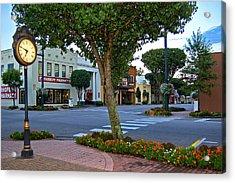 Fairhope Ave With Clock Acrylic Print