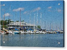 Fairhope Yacht Club Impression Acrylic Print by Michael Thomas