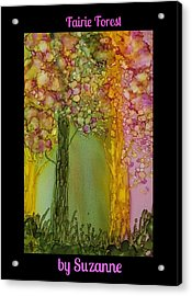Acrylic Print featuring the painting Fairie Forest by Suzanne Canner