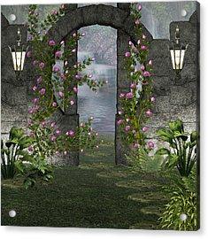Fairies Door Acrylic Print by Digital Art Cafe