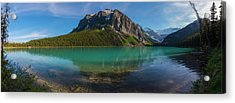 Acrylic Print featuring the photograph Fairview Mountain On Lake Louise by Owen Weber