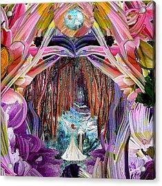 Fairy And Unicorn  Acrylic Print by Michele Avanti