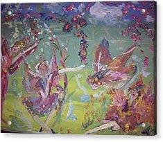 Fairy Ballet Acrylic Print by Judith Desrosiers