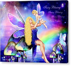 Fairy Blessing Acrylic Print by Dreamlight  Creations