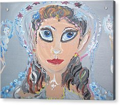 Acrylic Print featuring the painting Fairy Bride by Judith Desrosiers