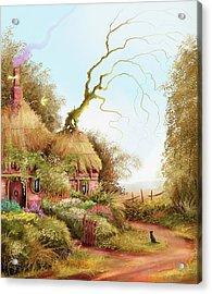 Fairy Chase Cottage Acrylic Print