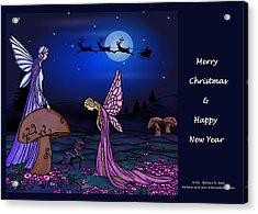 Fairy Christmas Card Acrylic Print