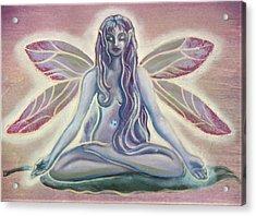 Fairy Doing Yoga Acrylic Print