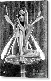 Fairy Drawing Acrylic Print
