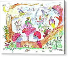 Fairy Glen Acrylic Print
