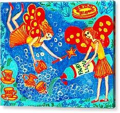Fairy Liquid Acrylic Print by Sushila Burgess