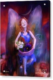 Fairy Of The Garden Acrylic Print by Joseph J Stevens