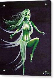 Fairy Of The Green Glens Acrylic Print by Aoife  Joyce