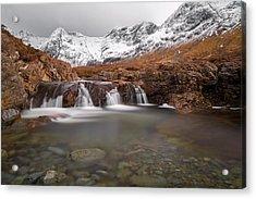 Fairy Pools, Isle Of Skye In Winter Acrylic Print