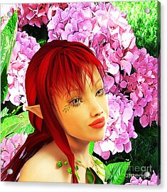 Fairy Portrait Acrylic Print by Methune Hively
