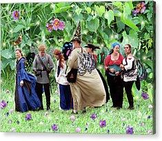 Fairy Queue Acrylic Print by Lise Winne