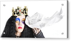 Fairy Tale Crying Queen Acrylic Print by Jorgo Photography - Wall Art Gallery