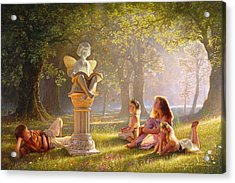Acrylic Print featuring the painting Fairy Tales  by Greg Olsen