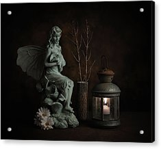 Fairy With Lilies Acrylic Print