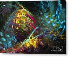 Acrylic Print featuring the digital art Fairy's Rhapsody by Sipo Liimatainen