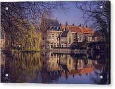 Fairytale Bruges  Acrylic Print by Carol Japp
