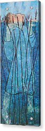 Faith At The Sea Of Reeds Acrylic Print by Mordecai Colodner