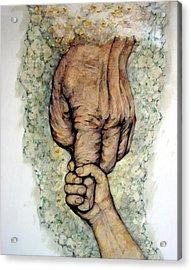 Faith Acrylic Print by Edward Ruth
