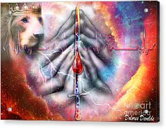 Acrylic Print featuring the digital art Faith Filled Prayer by Dolores Develde
