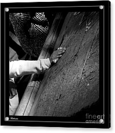 Acrylic Print featuring the photograph Faith Hands 2. by Arik Baltinester