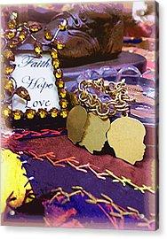 Acrylic Print featuring the photograph Faith Hope Love 4 by Kate Word