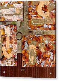 Faith Hope Love Acrylic Print by Angela L Walker